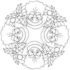 christmas mandalas coloring 14 funnycrafts