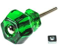 colored glass cabinet knobs 1 1 4 inch emerald dark green glass knobs