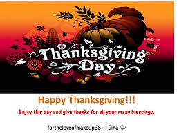 happy thanksgiving god bless you all