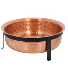 Copper Firepit Cobraco Hammered 100 Copper Pit Sh101 The Home Depot