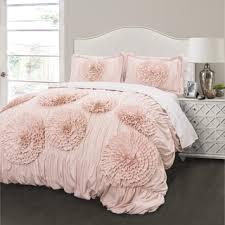 Solid Pink Comforter Twin Floral Comforter Sets For Less Overstock Com