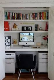 Closet Office Desk Remodelaholic 25 Clever Closet Offices For Editing My