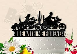 motorcycle wedding cake toppers motorcycle ride with me forever biker wedding cake