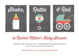 shake rattle and roll baby shower baby shower invitations shake rattle roll at minted