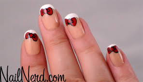 nail nerd nail art for nerds french bow nails