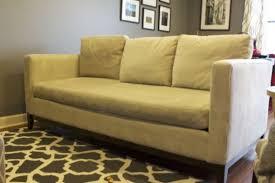 grey down filled sofa