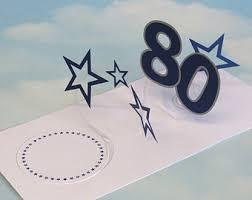 80th birthday card etsy