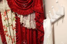 Designer Window Curtains Luxurious Old Fashioned Designer Window Curtains In Red And White