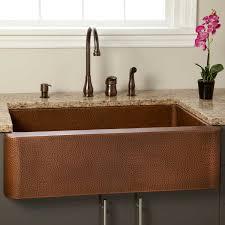 Fiona Hammered Copper Farmhouse Sink Kitchen - Cooper kitchen sink
