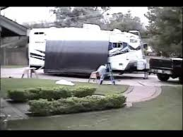 Travel Trailer Awning Replacement Fabric Rv Awning Install Quick Youtube
