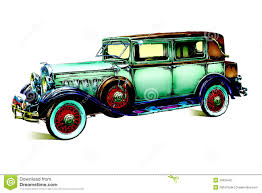 classic cars drawings old classic car retro vintage stock illustration image 39524421