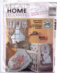 uncut mccalls 7868 90s sewing pattern baby room decor fitted