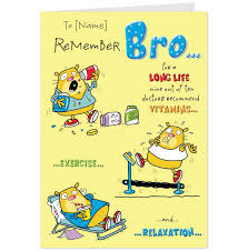 funny brother birthday cards lilbibby com