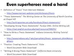 superhero thesis statements ppt video online download