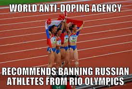 Track And Field Memes - wada ban russian athletes from rio olympics memenews