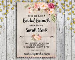 brunch bridal shower invites bridal shower brunch etsy