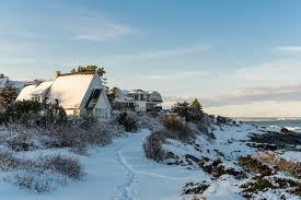 winter in ogunquit maine perkins cove u0026 marginal way new