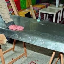 plan de travail en zinc pour cuisine plaque de zinc pour cuisine stunning plaque de zinc pour recouvrir