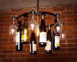 Wine Bottles With Lights How To Make A Wine Bottle Chandelier