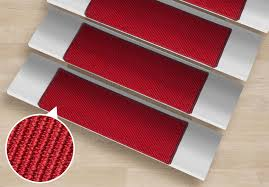 modern sisal stair treads red