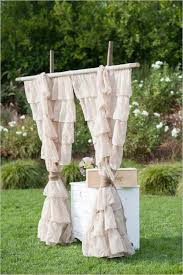 wedding backdrop burlap ruffled burlap wedding backdrop idea deer pearl flowers
