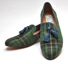 muted henderson tartan tassel loafer available now for 165 in perth