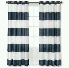 Tan And White Horizontal Striped Curtains Threshold Striped Curtains Drapes U0026 Valances Ebay