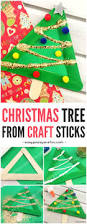 christmas tree from craft sticks easy peasy and fun
