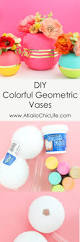 a kailo chic life diy it colorful geometric vases