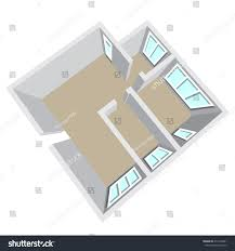 modern isometric cottage interior isometric open stock