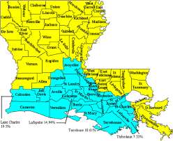 louisiana geographical map some genetic disorders among acadian