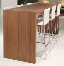wooden high bar table high bar table round contemporary mdf teknion casual loversiq