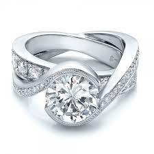 custom wedding rings custom wedding rings custom interlocking diamond engagement ring