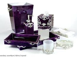 purple bathroom sets glamorous crystal bathroom accessories sets pictures best