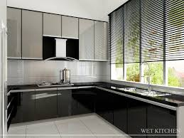 kitchen malaysia design white modern kitchen design simple yet