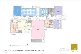 Gym Floor Plan by Community Center Project Town Of Pittsford New York