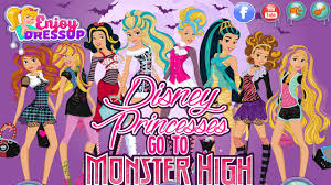 Monster High Halloween Dress Up by Disney Princesses Go To Monster High Dress Up Games Disney
