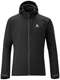 amazon com salomon men u0027s fast wing hoodie black medium sports
