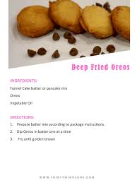 fair foods to make from home deep fried oreos