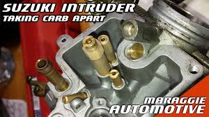 suzuki intruder volusia how to take the carburettor apart youtube