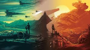print a wallpaper made a wallpaper w the two imax posters starwars