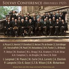 solvay si e social solvay conference in color einstein schrodinger planck bohr and