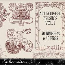 nouveau frames and ornaments brushes volume 2 photoshop brushes