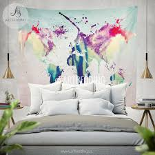 world map abstract watercolor wall tapestry grunge world map wall world map abstract watercolor wall tapestry grunge world map wall tapestry hippie tapestry wall