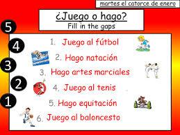 spanish sports los deportes juego o hago by emmapops5