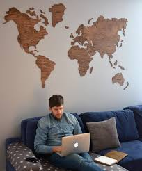 World Map Wood Wall Art by Wall World Map Wooden Large Travel Map Of The World Rustic
