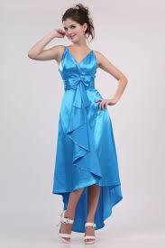 flirtatious sea blue charmeuse satin cocktail dress evening gown
