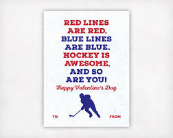 hockey valentines cards printable kids card printable by sweetpeonypress on etsy