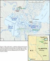 Map Of Ne Map Of The Peace Athabasca Delta Pad And The Locations Of The