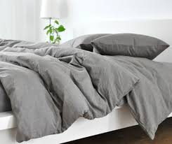 grey duvet cover natural linen custom size queen king calif